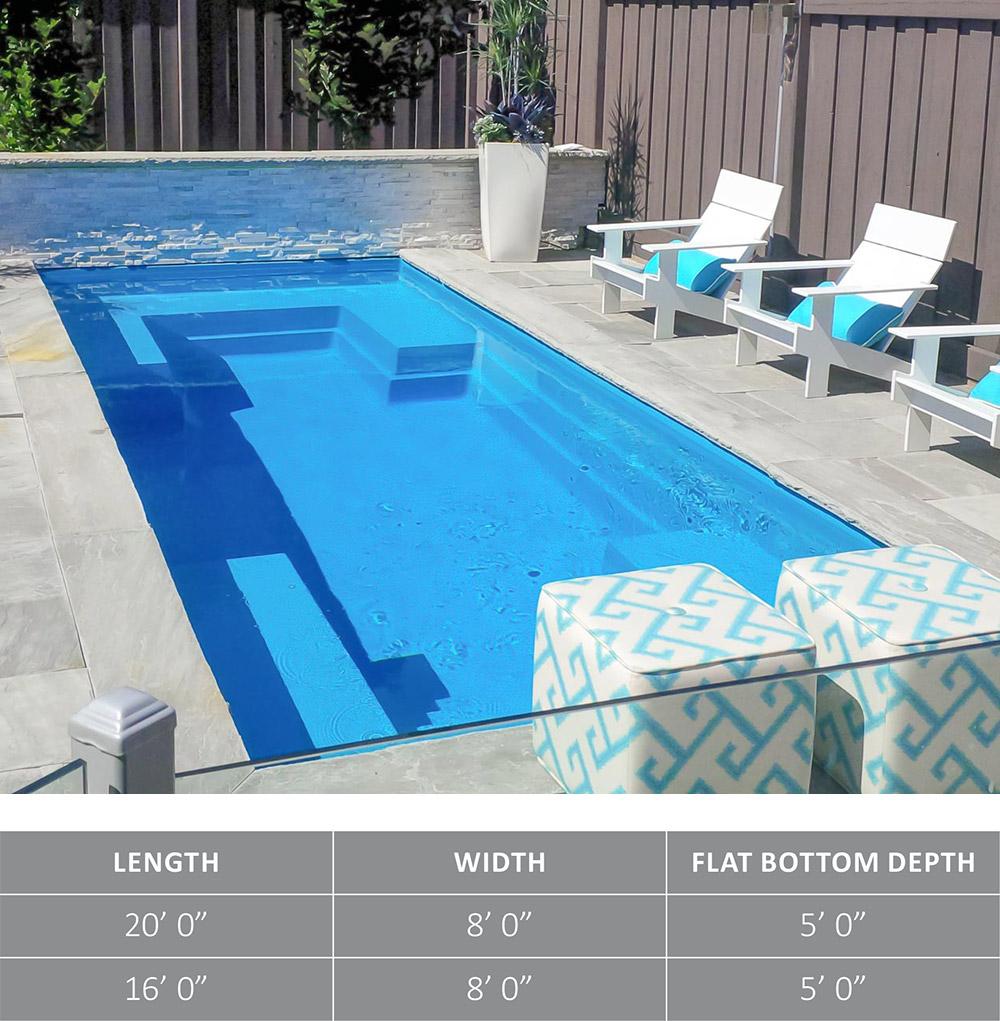 Leisure Pools Fiberglass Swimming Pool The Palladium Plunge™