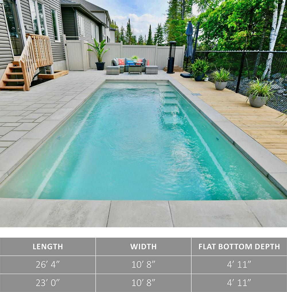 Leisure Pools Fiberglass Swimming Pool The Precision™