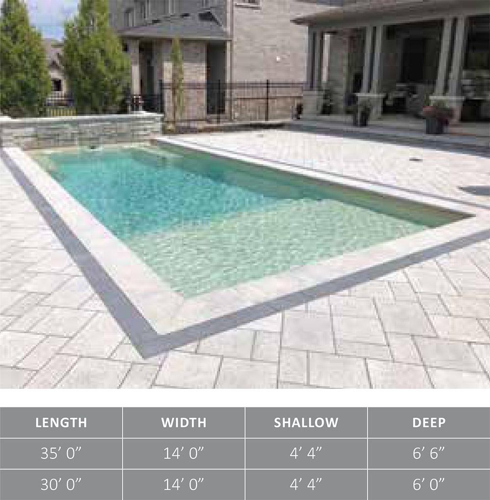 Leisure Pools Fiberglass Swimming Pool The Summit™
