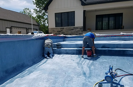 Concrete Pool Process Pool Plaster