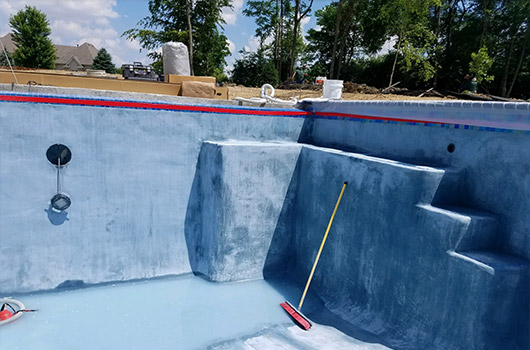Concrete Pool Process Brushing
