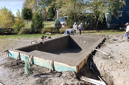 Concrete Pool Process Rough Grade